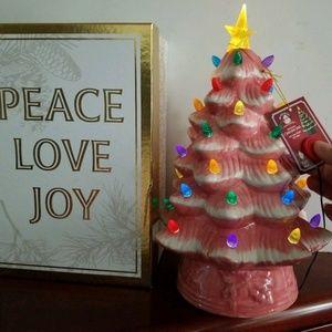 Mr. Christmas® 12-Inch Retro Ceramic Light Up Tree